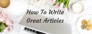Writing blogposts the easy way