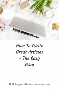 The easy way to write blogposts