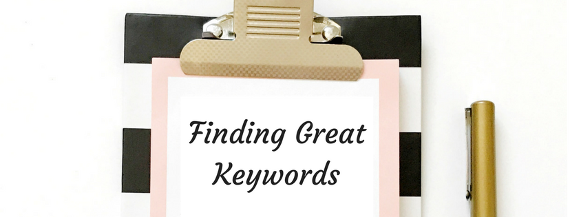 Finding keywords for blogposts