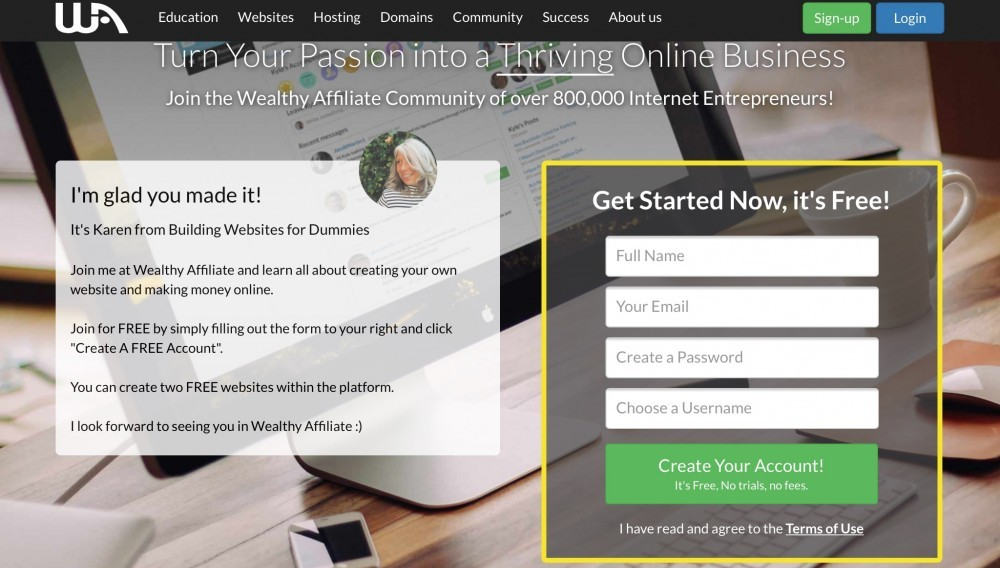 Join Wealthy Affiliate