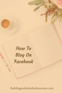 Using Facebook for my blog