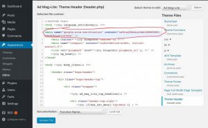 Where To put HTML Code in header