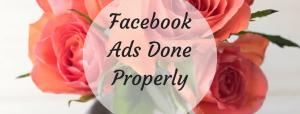 Facebook ads advice