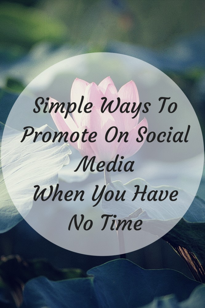 Social Media Marketing For Blogs - When You Have No Time